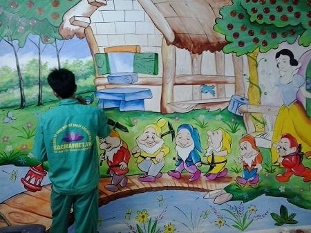 Vẽ tranh tường Hà Nội, rẻ nhất, đẹp nhất